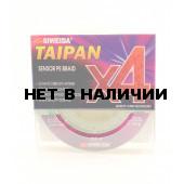 Леска плетеная Siweida Taipan Sensor PE Braid X4 135м 0,20мм (11,40кг) ярко-зеленая