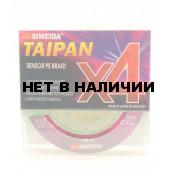 Леска плетеная Siweida Taipan Sensor PE Braid X4 135м 0,28мм (15,90кг) ярко-зеленая
