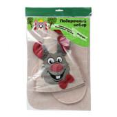 Подарочный набор для бани Банные штучки Мышка (шапка, коврик, рукавица) 41309