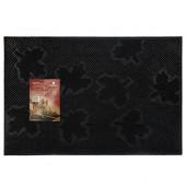 Коврик резиновый придверный Vortex Клен 40х60 см черный 22463