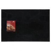 Коврик резиновый придверный Vortex Следы 40х60 см черный 22462