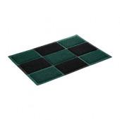 Коврик придверный пористый Vortex 40*60 черно-зеленый 22406