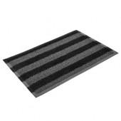 Коврик придверный пористый Vortex 40*60 черно-серые полосы 22408
