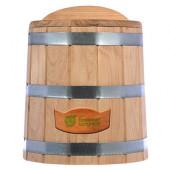 Кадка для воды и солений Банные Штучки с крышкой и гнетом дуб 15 л 33230