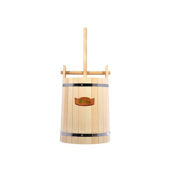 Кадка для воды и солений Банные Штучки с замком и гнетом липа 30 л 32690