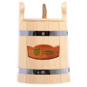Кадка для воды и солений Банные Штучки с крышкой и гнетом липа 5 л 32701