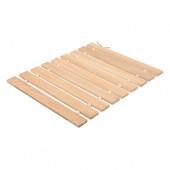 Коврик для бани деревянный Банные Штучки с орнаментом Рогожка липовая рейка 42х35 см 33422