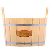 Ушат/шайка для бани Банные Штучки с пластиковой вставкой липа 12 л 32692