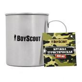 Кружка туристическая нержавейка Boyscout 400 мл 61156
