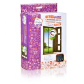Противомоскитная сетка Help штора на дверь с магнитами и крепежом 2 шт 80004