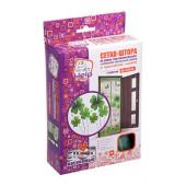 Противомоскитная сетка Help штора на дверь с рисунком, магнитами и крепежом 2 шт 80006