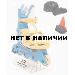 Роликовые коньки JOEREX RO0306 набор (синий/желтый)