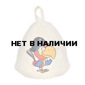 Шапка для бани детская Hot Pot Попугай (войлок) 41212