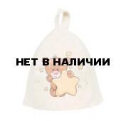 Шапка для бани детская Hot Pot Мишка (войлок) 41213