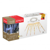 Уличная светодиодная гирлянда (теплый свет) Vegas Сосульки 40 LED, 10 штук, 2х0,3 м, 24V 55036