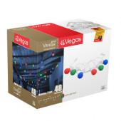 Уличная светодиодная гирлянда (мультиколор) Vegas Лампы 48 LED 2,4 м, 24V 55040