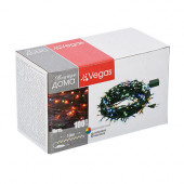 Светодиодная гирлянда для дома (мультиколор) Vegas Нить 100 LED, 10 м, 220V 55061