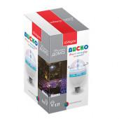 Лампа светодиодная для дома (мультиколор) Vegas Диско 3 LED, цоколь Е27, 220V 55099