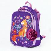 Ранец для девочек Brauberg Premium Рыжая лиса с брелоком 17 л 227816