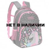Рюкзак школьный ортопедический Grizly Единорог 13,5 л RG-966-1/4 (228302)