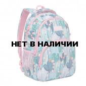 Рюкзак школьный ортопедический Grizly Кактусы 13,5 л RG-060-1/1 (229511)