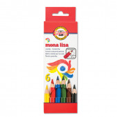 Карандаши цветные утолщенные KOH-I-NOOR Mona Lisa 6 цветов 5,6 мм 3371006007KS