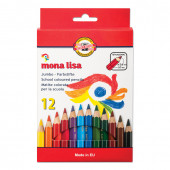 Карандаши цветные утолщенные KOH-I-NOOR Mona Lisa 12 цветов 5,6 мм 3372012007KS