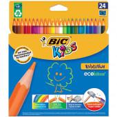 Карандаши цветные пластиковые Bic Kids ECOlutions Evolution 24 цвета 937515