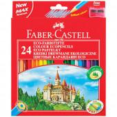 Карандаши цветные Faber-Castell ECO Замок 24 цвета с точилкой 120124