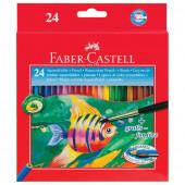Карандаши цветные акварельные Faber-Castell Colour Pencils 24 цвета + кисть 114425