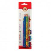 Карандаши многоцветные утолщенные KOH-I-NOOR Magic 3 шт 5,6/7,1 мм 9038003002BL