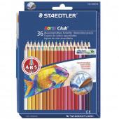 Карандаши цветные акварельные Staedtler Noris club 36 цветов + кисть 144 10ND3603
