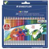 Карандаши цветные с резинкой Staedtler Noris club 24 цвета 144 50NC2412
