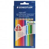 Карандаши цветные трехгранные Staedtler Премиум Ergosoft 12 цветов в коробке 157 C12