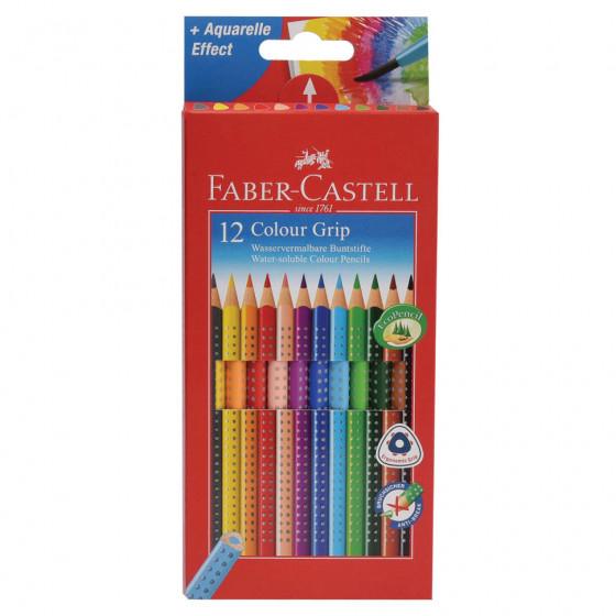Карандаши цветные трехгранные Faber-Castell Grip 12 цветов 112412