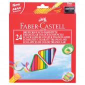 Карандаши цветные трехгранные Faber-Castell 24 цвета с точилкой 120524
