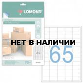 Этикетка самоклеящаяся Lomond 38х21,2 мм 50 листов по 65 шт белая 2100215