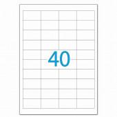 Этикетка самоклеящаяся Lomond 48,5х25,4 мм 50 листов по 40 шт белая 2100195