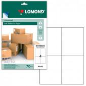 Этикетка самоклеящаяся Lomond 105х148,5 мм 50 листов по 4 шт белая 2100025
