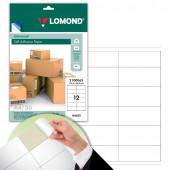 Этикетка самоклеящаяся Lomond 105х48 мм 50 листов по 12 шт белая 2100065
