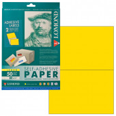 Этикетка самоклеящаяся Lomond 210х148,5 мм 50 листов по 2 шт желтая 2130225