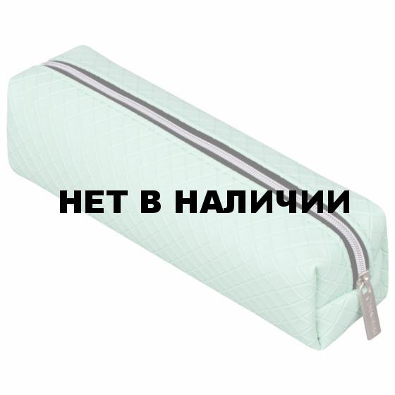 Пенал косметичка на молнии Brauberg Celebrity Мятный (228994)