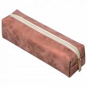 Пенал косметичка на молнии Brauberg Luxury Бронзовый (228996)