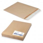 Пакеты почтовые Е4+ плоские, крафт, отрывная полоса, 25 шт