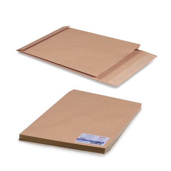 Пакеты почтовые Е4+ объемные, крафт, отрывная полоса, 25 шт