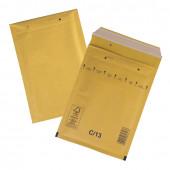 Пакеты почтовые с прослойкой из пузырчатой пленки, крафт-бумага, отрывная полоса, 100 шт