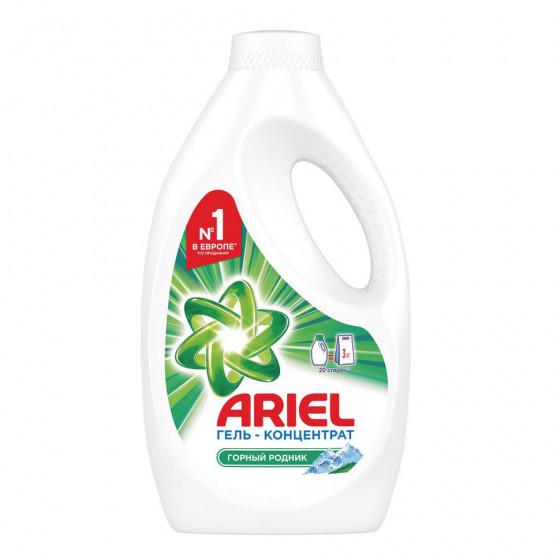 Стиральный порошок автомат жидкий гель Ariel Горный родник 1,3 л