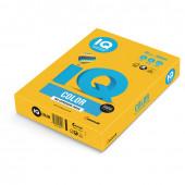 Бумага цветная для принтера IQ Color А4, 80 г/м2, 500 листов, солнечно-желтая, SY40