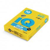 Бумага цветная для принтера IQ Color А4, 80 г/м2, 500 листов, ярко-желтая, IG50