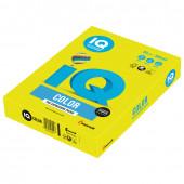 Бумага цветная для принтера IQ Color А4, 80 г/м2, 500 листов, желтая, NEOGB